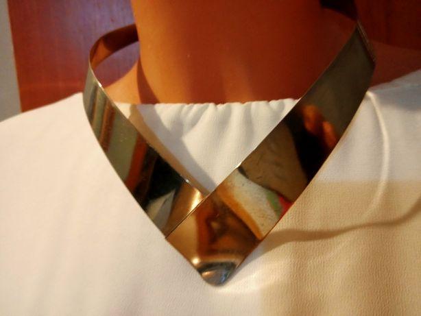 Piękna stylowa kolia, naszyjnik srebrny, elegancki