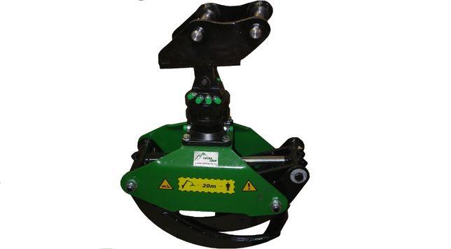 Szybkozłącze do minikoparki / koparki + Rotator 4,5T + Chwytak 0,16m2