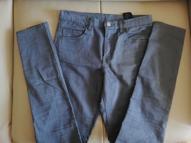 Szare spodnie H&M 164 S