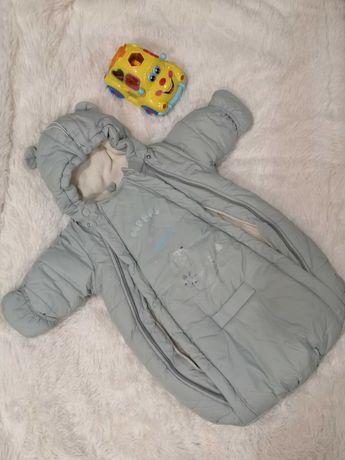 Детский зимний комбинезон - конверт.