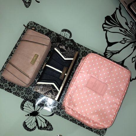 Косметичка(органайзер) + 2 гаманці (кошелек,косметичка-органайзер)