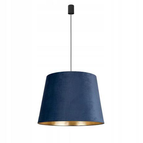 Granatowo złota lampa abażur tkanina aksamit Nowodvorski CONE M BLUE