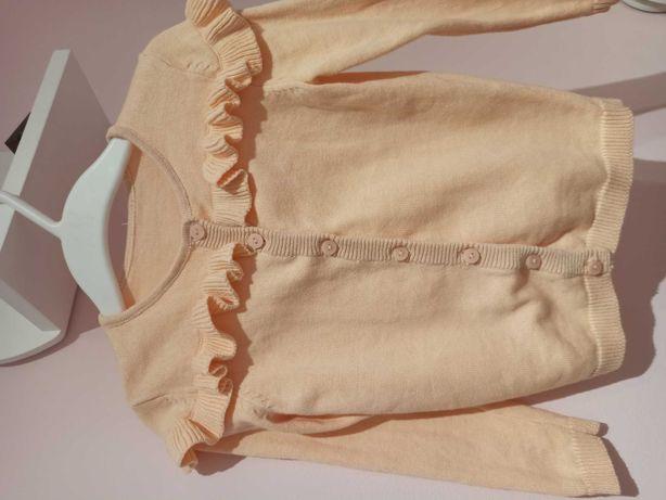Sweterek łososiowy 86-92 bawełna