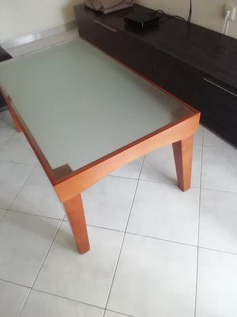 Mesa de Centro Madeira/Vidro