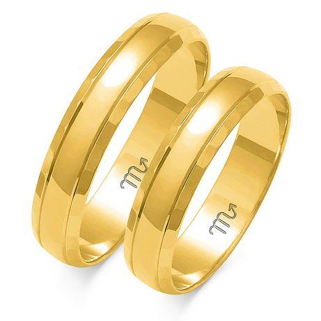 NOWE Obrączki złote 333 lub 585 dowolny kolor GRAWER GRATIS ślubne 4mm
