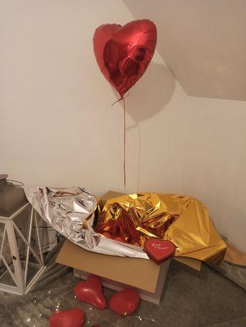 Balon serce z HELEM poczta balonowa DZIEŃ KOBIET