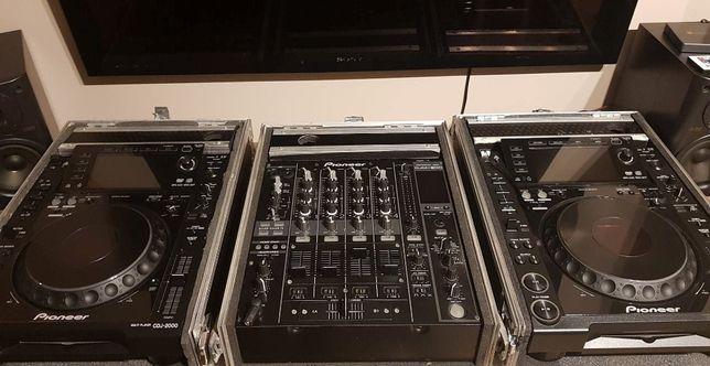 2xCDJ200 + DJM800 + case i okablowanie.