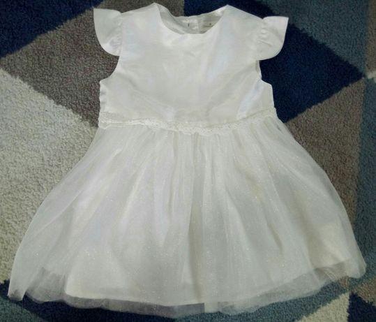 Sukienka biała chrzest r. 74