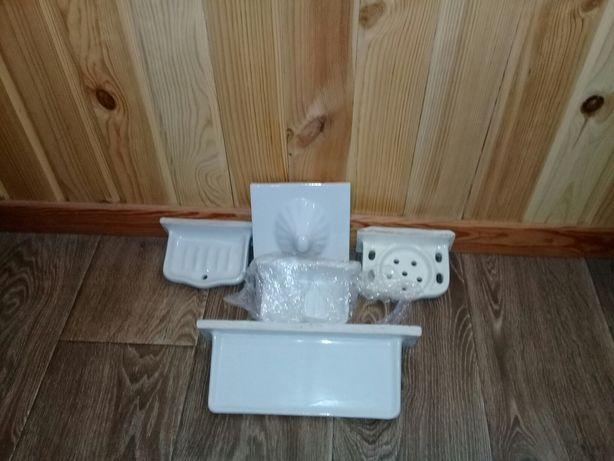 Керамические-мыльница.полочка.подставка для зубных щеток