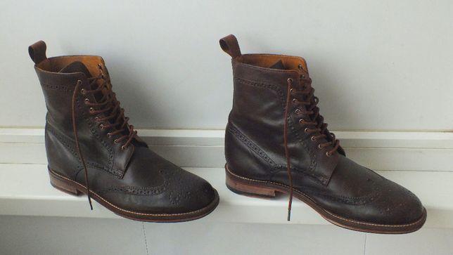 Кожаные ботинки броги Pierre Cardin. Размер EURO 42.5 Стелька 27.5 см
