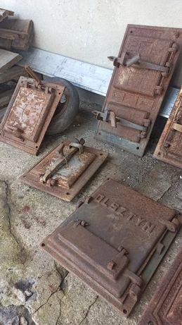 Drzwi do pieca kaflowego żeliwne