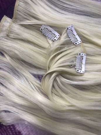 Волосы накладные трессы блонд