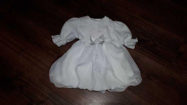 Zimowa sukienka do chrztu