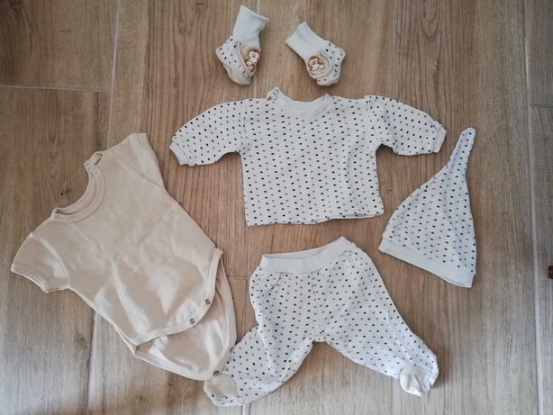 Zestaw ubrań noworodek wyprawka 62
