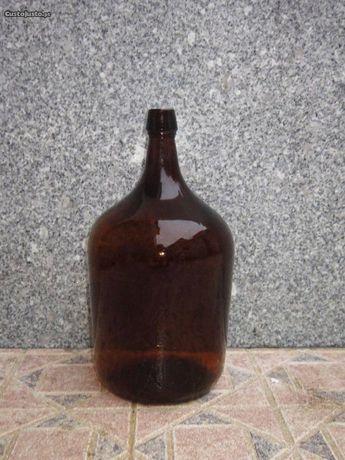 Garrafões de vidro 5 litros Castanhos da vidreira Santos Barosa
