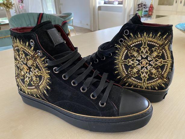 Buty nowe zloto czarne zdobione, Cavalli