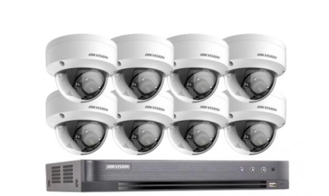 ZESTAW do monitoringu  HIKVISION Rejestrator + 8X Kamer.  Montaż