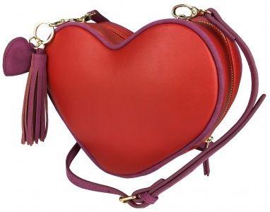 Torebka serce czerwona chwoscik