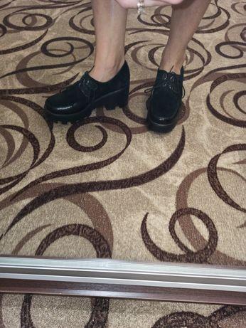 Туфли кожа + лак