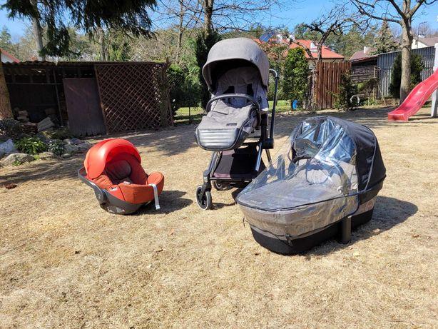 Wózek dziecięcy Cybex Priam LUX 3w1, nosidło Cloud Q + masa dodatków