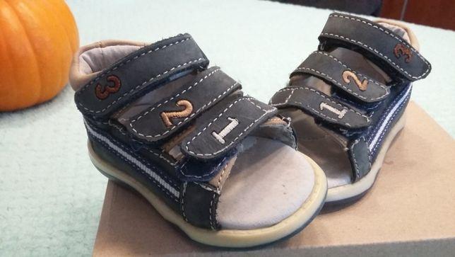 Sandały skórzane rozmiar 20