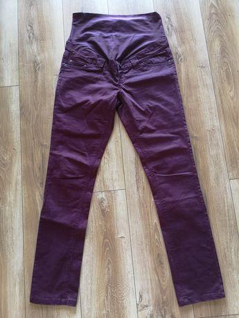 Bordowe spodnie ciążowe