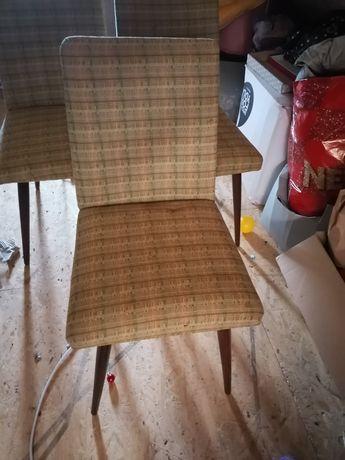 Stare krzesła z PRL-u 4 szutki