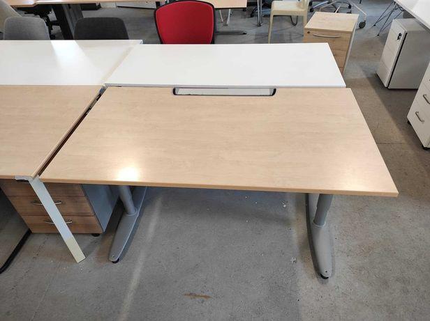 Biurko proste KINNARPS 140x80cm z manualną regulacją wysokości