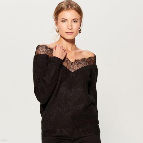 Czarny sweter z koronką Mohito 34/xs