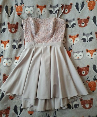 Asymetryczna sukienka na ramiączkach  L