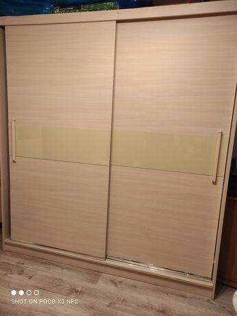 Szafa duża półki, wieszak 200x220x60cm