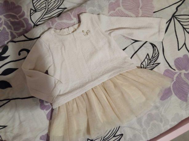 Zara 86 sukienka tiulowa ciepła