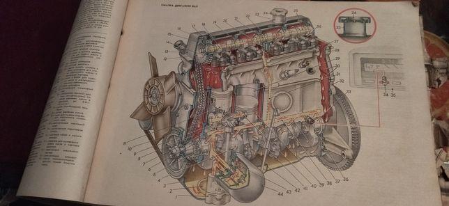 Книга атлас журнал автомобиля ВАЗ