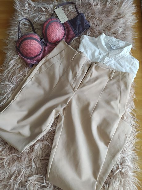 Spodnie beżowe Zara.M