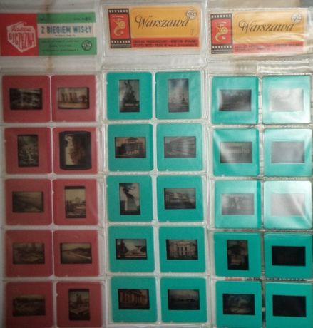 Przeźrocza, slajdy klisza klisze PTTK, 7szt, PRL na rzutnik