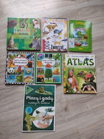 Zestaw 7 książek o zwierzętach i przyrodzie
