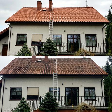 Malowanie oraz Mycie Czyszczenie Dachów Elewacji,Mycie kostki brukowej
