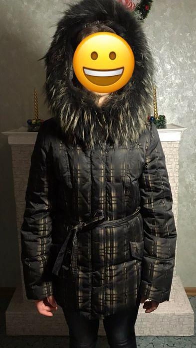 Пуховик зимний натуральный мех Марганец - изображение 1