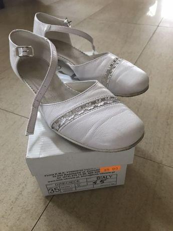 Buty, baleriny do komunii, rocznicy firmy KMK dla dziewczynki 35