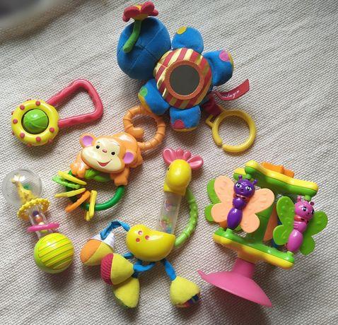 набор игрушек игрушка погремушка растяжка fisher prise,  hamleys