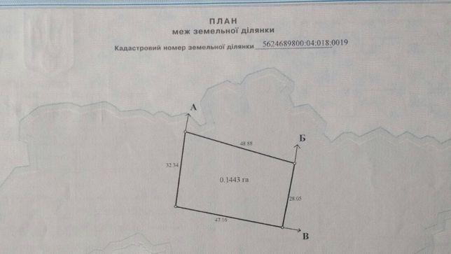 Продаж земельної ділянки село Дуби