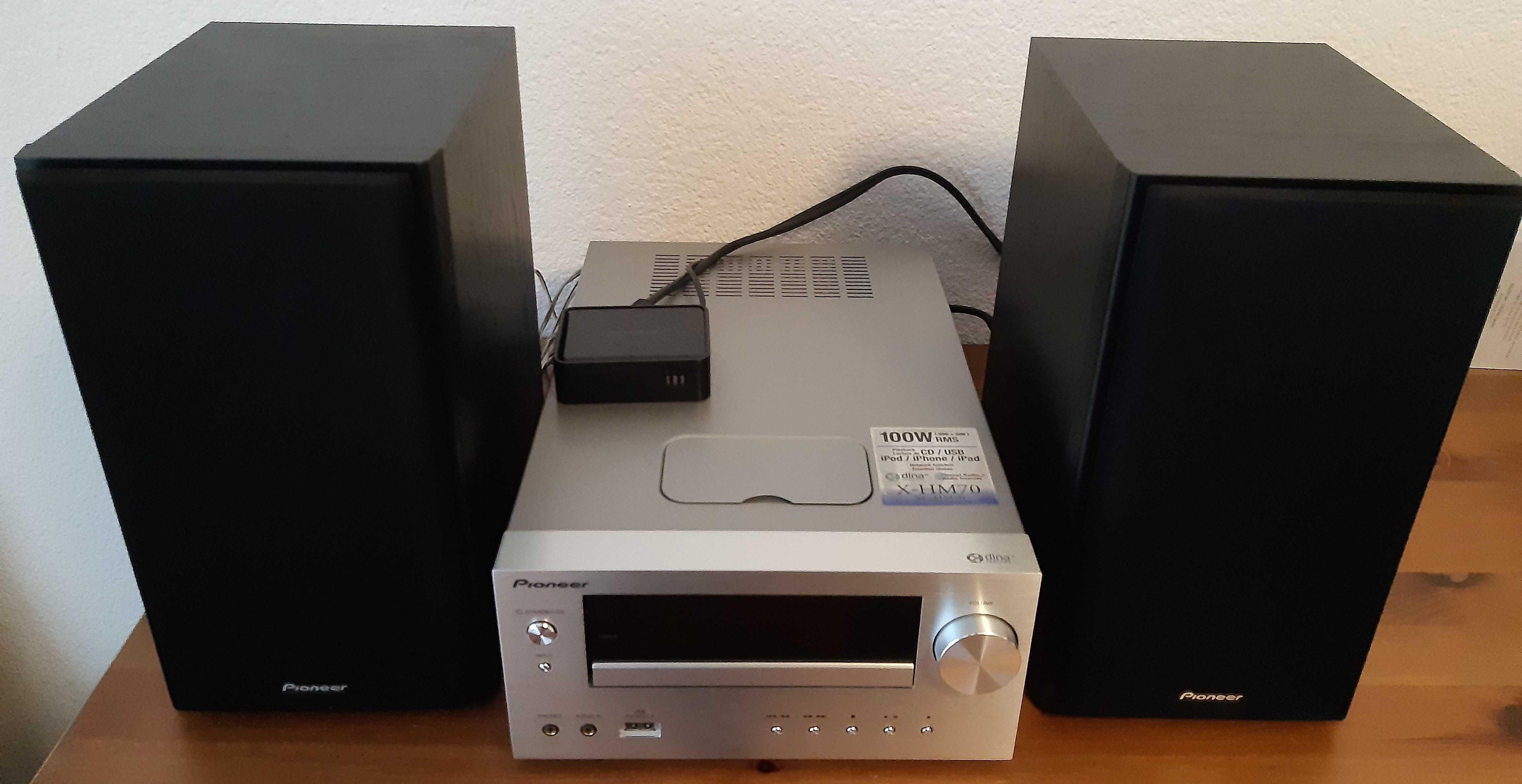 Pioneer XC-HM70 100W CD, DLNA, Radio Internetowe + Iphone 4S.