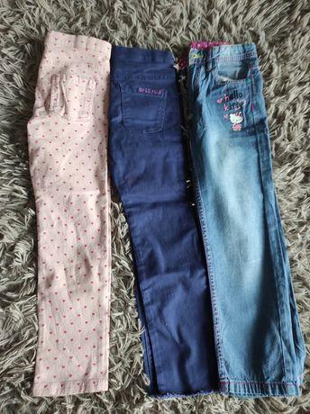 Zestaw nowych spodni jeans r122/128