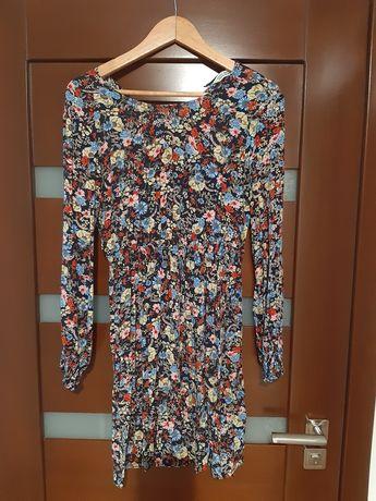 Sukienka kwiaty midi