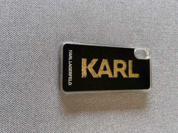 Case/etui z brokatem IPHONE XS MAX Karl Lagerfeld