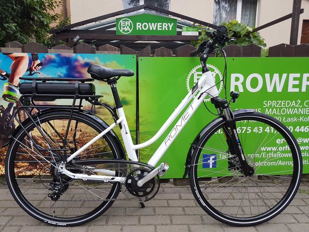 Rower elektryczny trekkingowy Romet Gazela 1 RM 28 nowy gwar, serwis