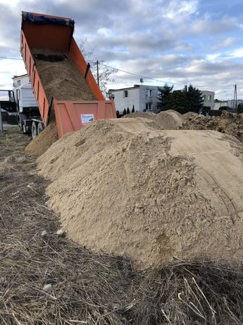 Żwir, piasek, ziemia, usługi koparko ładowarką, z transport wywrotka,
