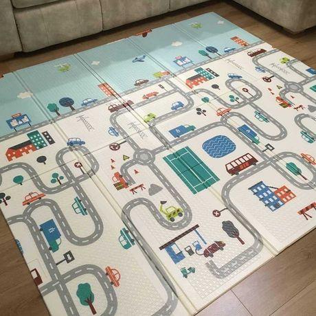 Детский развивающий термо коврик дорога в сумке 200*180*1см