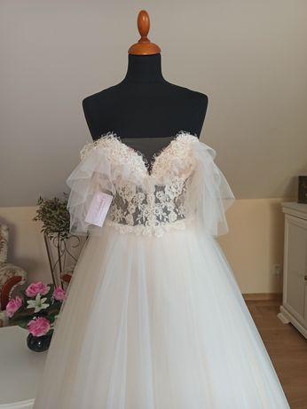 Suknia ślubna bajkowa kolekcja Bella rozmiar 36