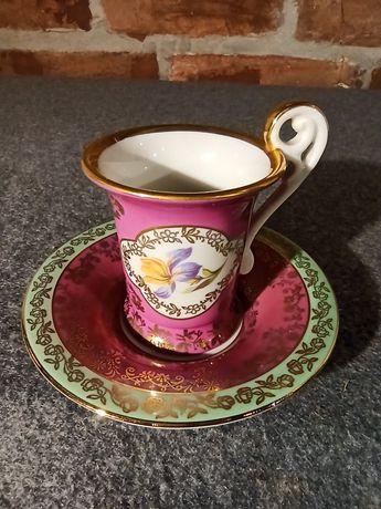 Porcelana BSE Filiżanka Kolekcjonerska do Mokka Różowa Śliczna